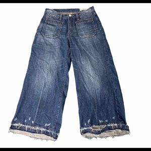 Blank NYC high waist wide leg Distressed Jeans